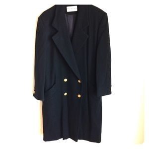 JH Collectibles Black Coat Gold Buttons Wool 100%